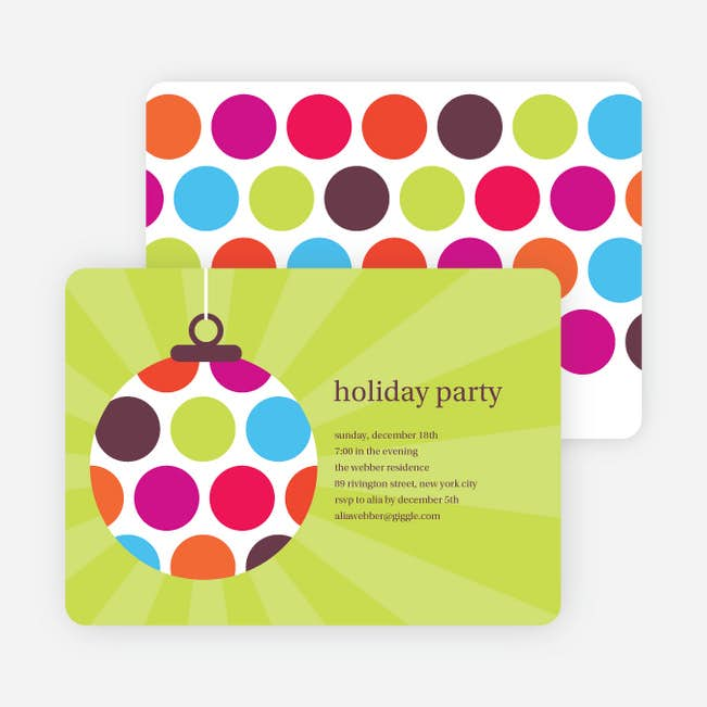 holiday ornament party invitations paper culture