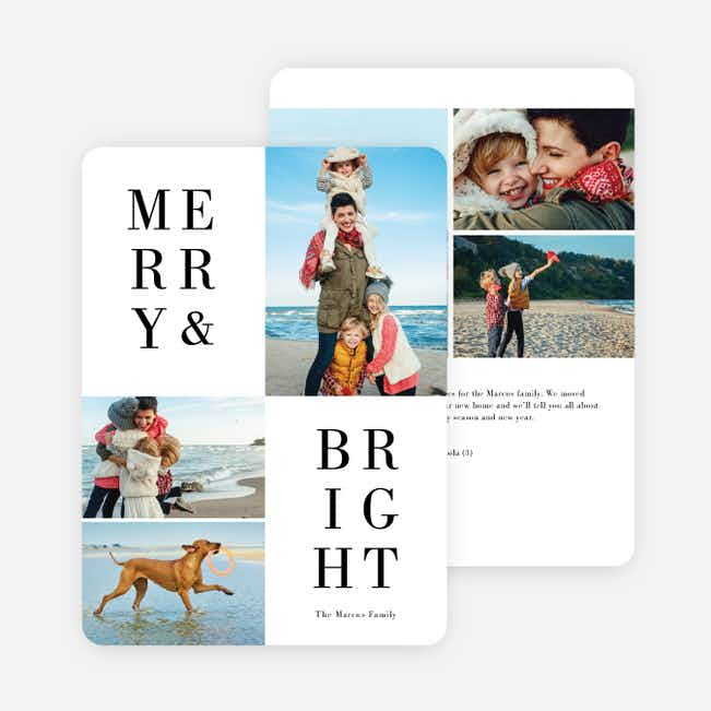 My Type Holiday Cards - Black