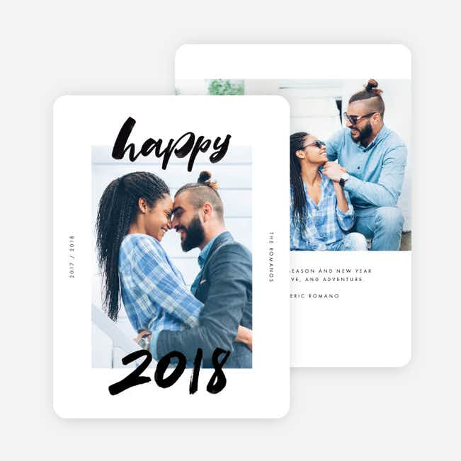 Happy Moments Holiday Cards - Black