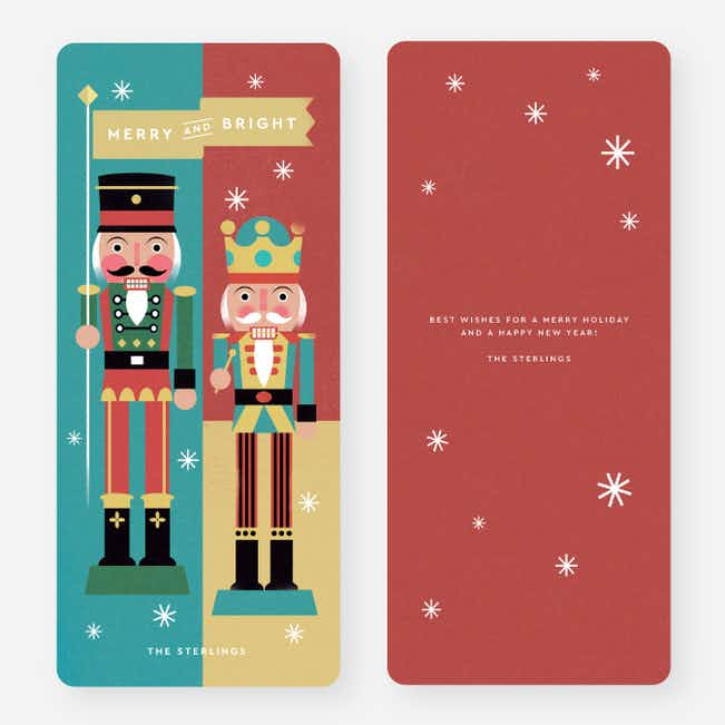 Merry Nutcrackers Christmas Cards - Multi
