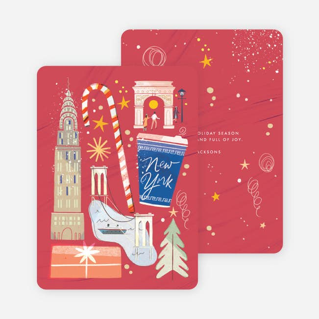 new york collage holiday cards paper culture