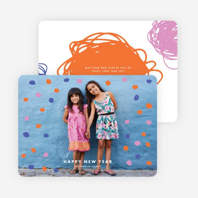 Scribble Perfection Holiday Cards - Orange