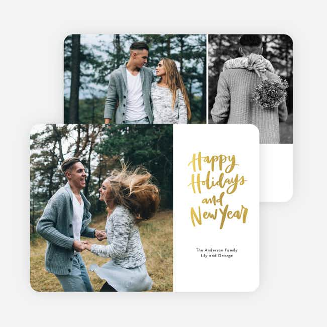 Side Message Holiday Cards - Yellow