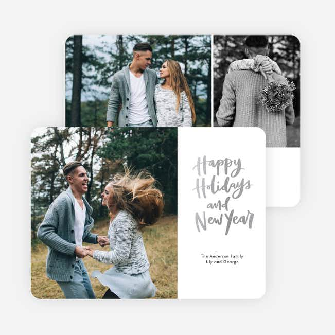 Side Message Holiday Cards - Gray