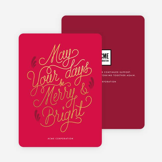 Deep Appreciation Corporate Holiday Cards - Red