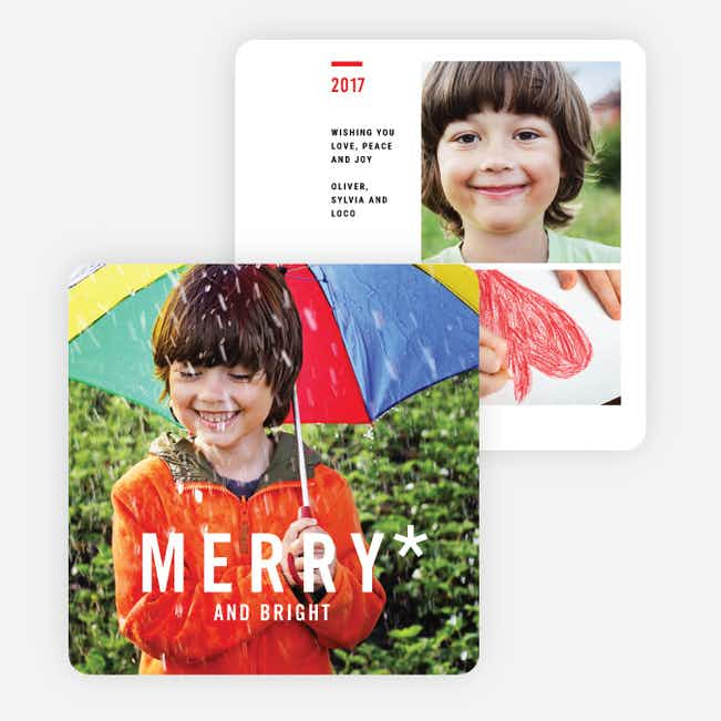 Happy All Around Holiday Cards - Red