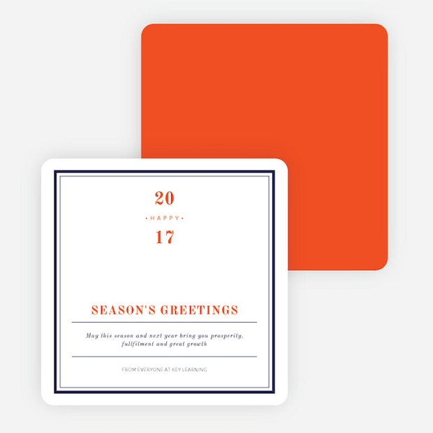 Modern professional corporate holiday cards paper culture m4hsunfo