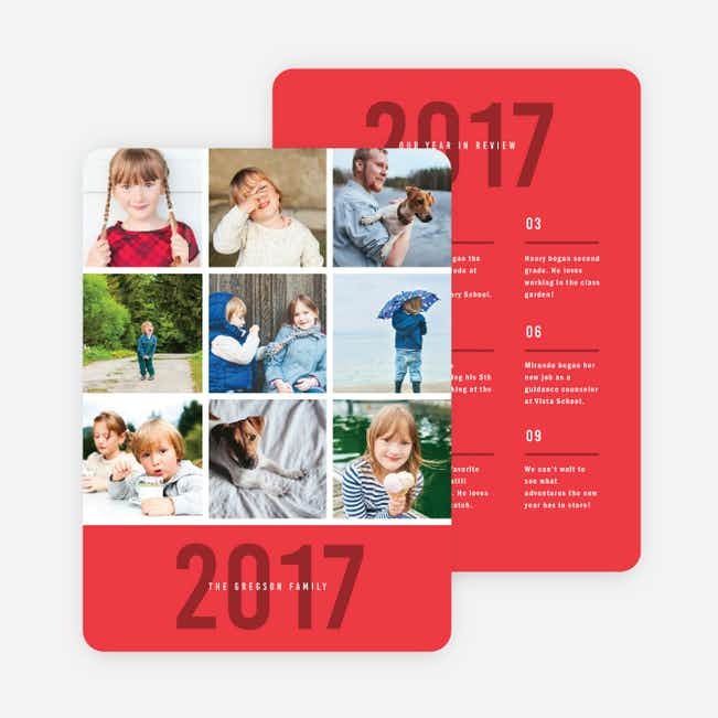 Photo Board Holiday Cards - Red