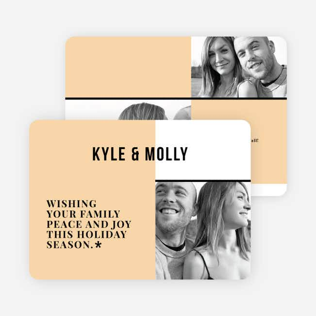 Modern Togetherness Holiday Cards - Orange