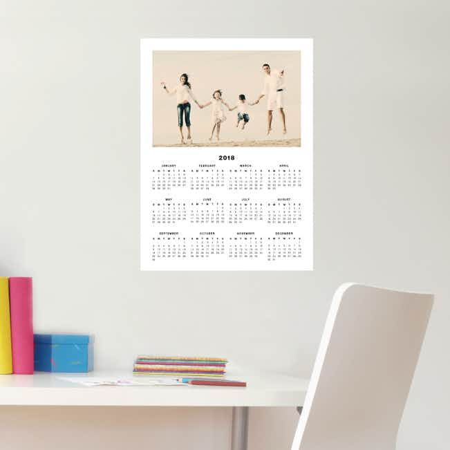 2018 Wall Calendar Stickers - Black
