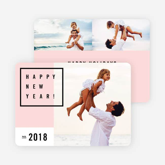 Be Modern New Year Cards - Pink