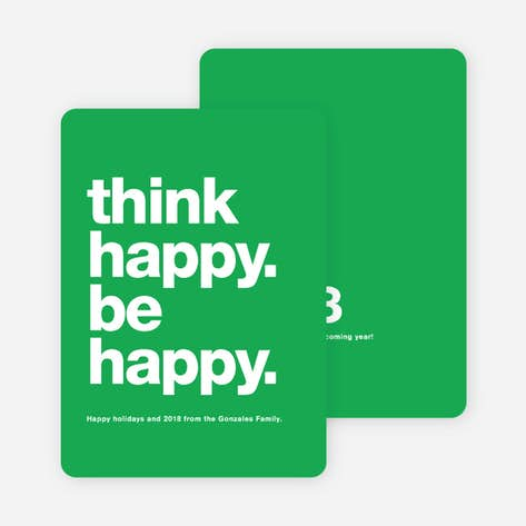 be happy new year cards green