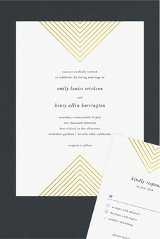 foil mirrored angles wedding invitation suites - Paper For Wedding Invitations