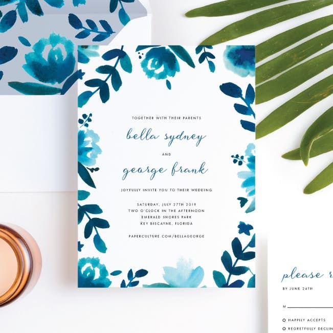 Floral Wedding Invitations.Bohemian Floral Wedding Invitation Suites Paper Culture