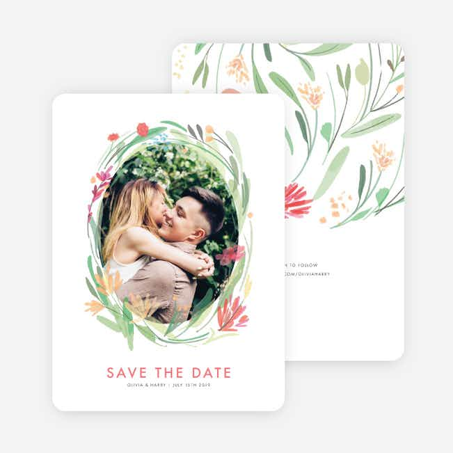 Spring Garden Save the Date Cards - Multi
