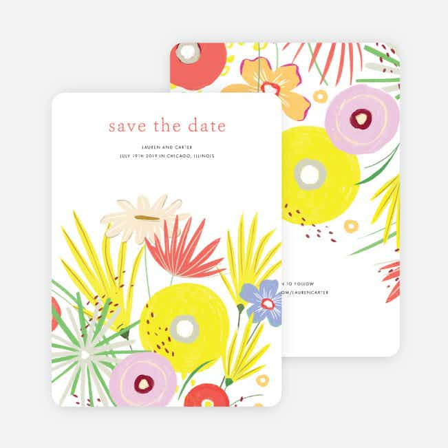 Vibrant Botanicals Save the Date Cards - Multi