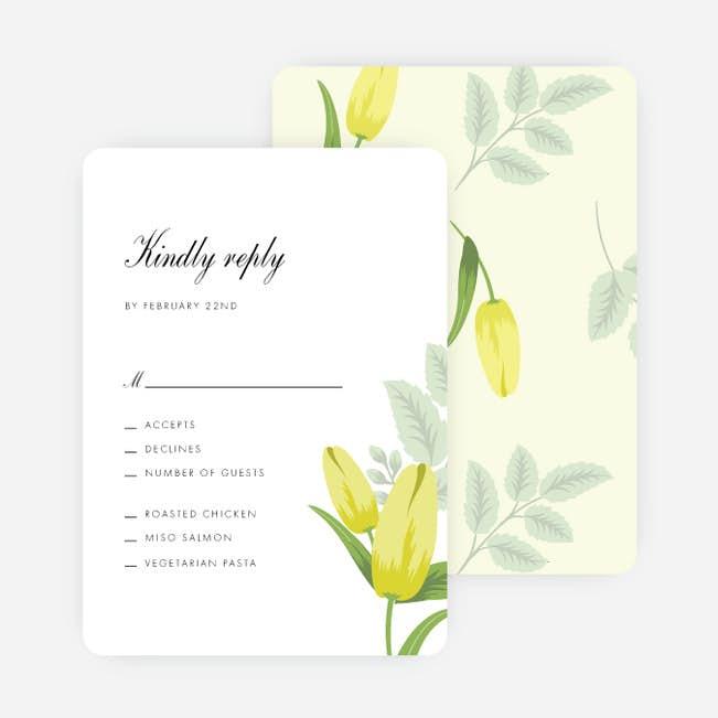 retro floret wedding response cards paper culture