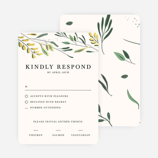 rustic forest wedding response cards paper culture