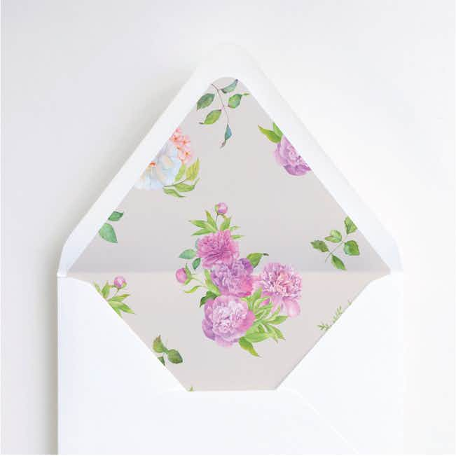 Painted Flowers Wedding Envelope Liners - Multi
