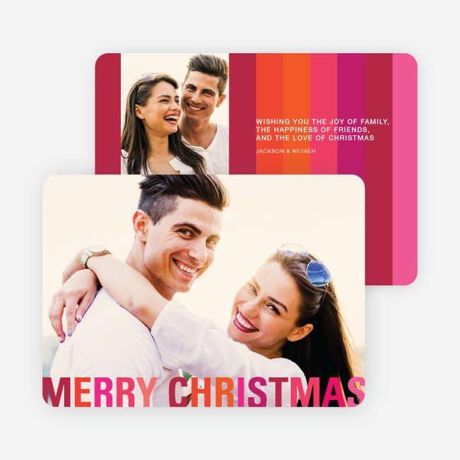 Modern Christmas Cards Stripes Paper Culture