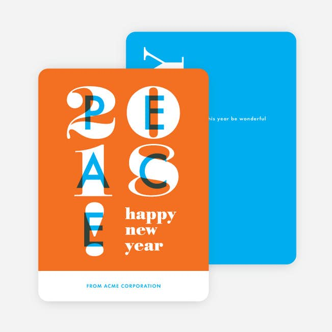 overlapping peace corporate holiday cards paper culture