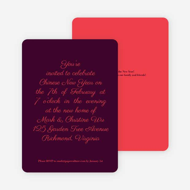 Simply Script Chinese New Year Cards Paper Culture