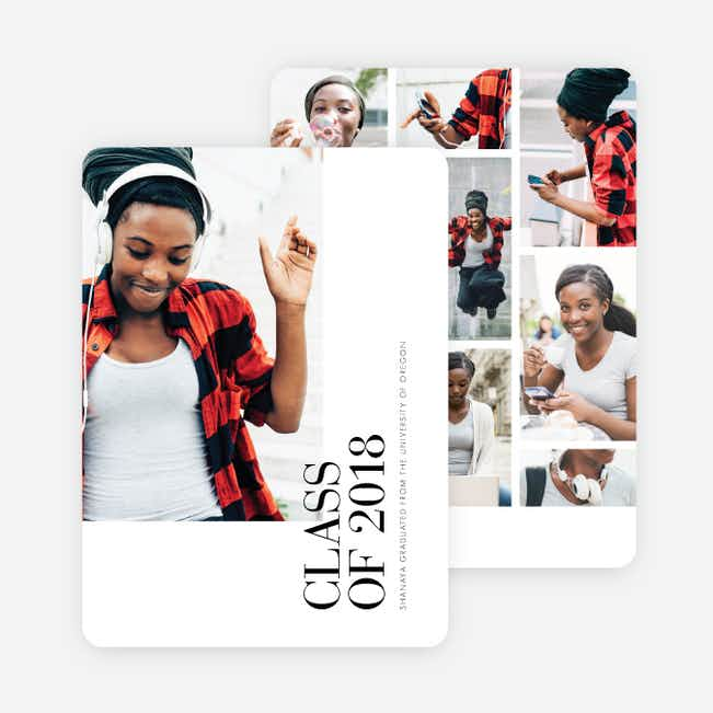 Photo Driven Graduation Announcements - Black