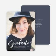 Graduation announcements and graduation invitations paper culture simply script graduation invitations blue filmwisefo Image collections