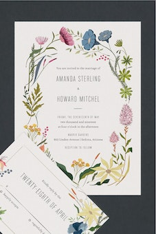Wedding invitation suites paper culture herbs wildflowers wedding invitation suites stopboris Choice Image