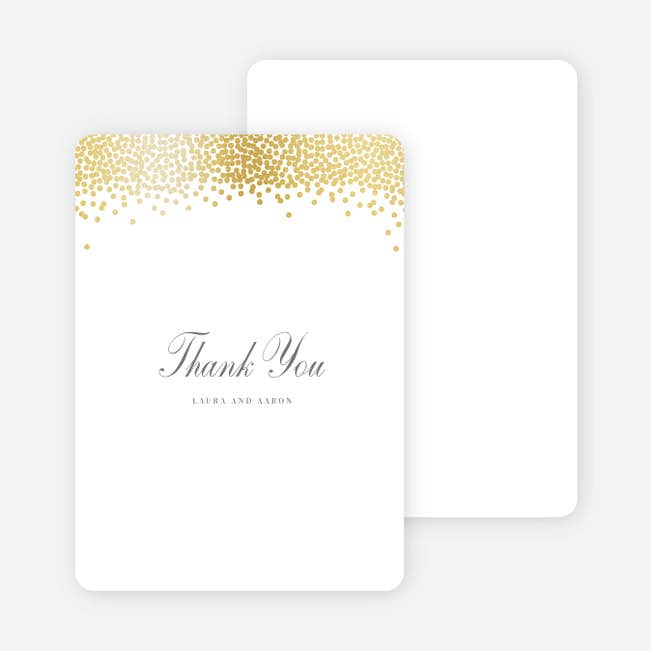 confetti of joy wedding thank you cards paper culture