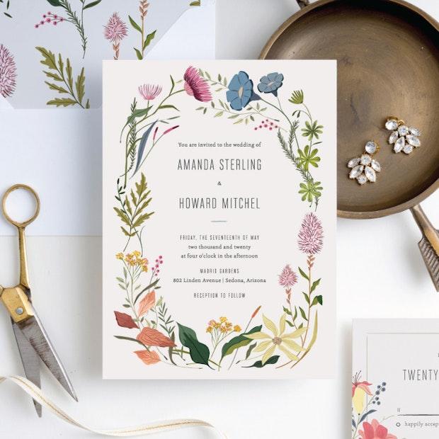 Herbs & Wildflowers Wedding Invitation Suites | Paper Culture