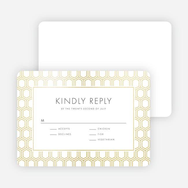 Wedding Response Cards.Hexagon Bliss