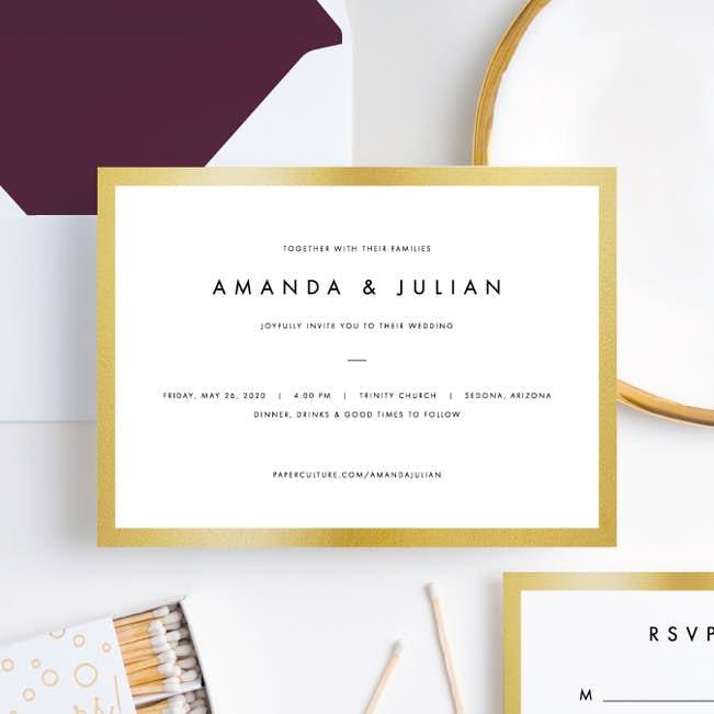 Wedding Frame of Mind Wedding Invitations | Paper Culture