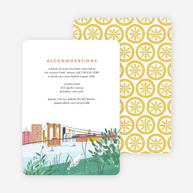 Brooklyn Bridge Views Wedding Information Cards Paper Culture