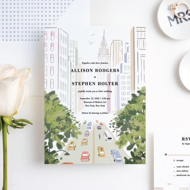 Madison Avenue Wedding Invitation Suites Paper Culture