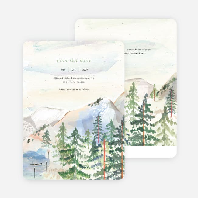 Christmas Save The Date Cards.Tahoe Inspired