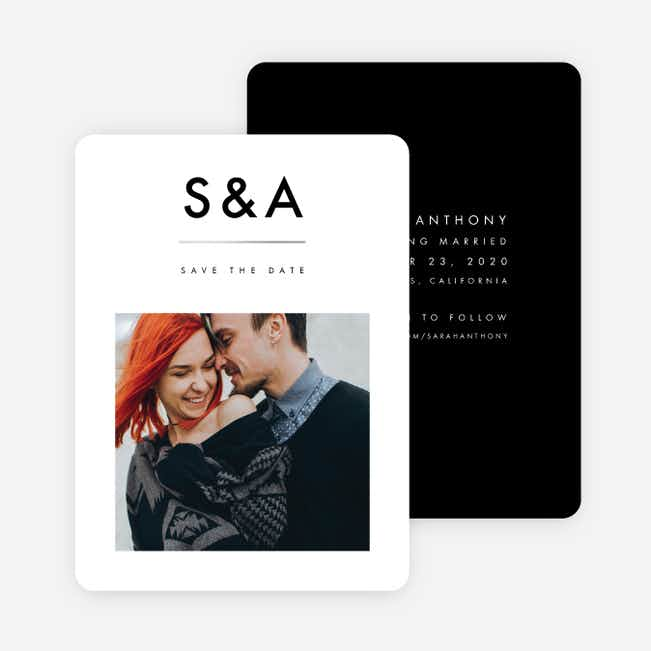 Foil Amplify Save the Date Cards - Black