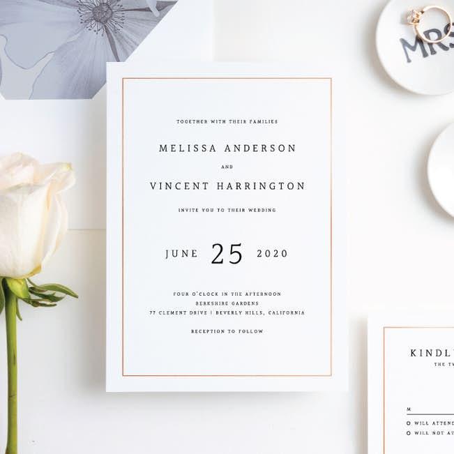 Modern Meets Vintage Wedding Invitation