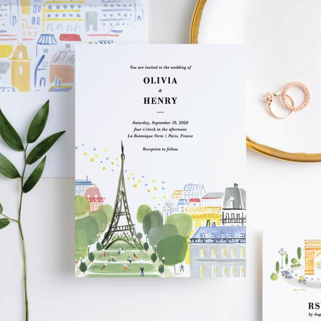Paris Connection Wedding Invitation Suites - Multi