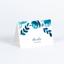 Thank you cards and note cards paper culture bohemian floral wedding thank you cards blue altavistaventures Choice Image
