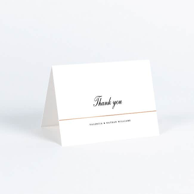 Classic Style Wedding Thank You Cards - Pink