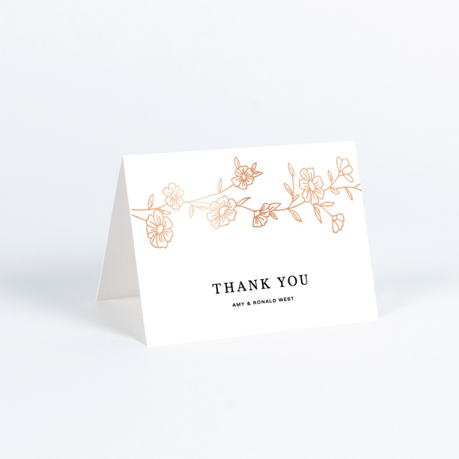 Personalised Wedding Vintage Thank You Cards Note Cards Flat or Folded Envelopes