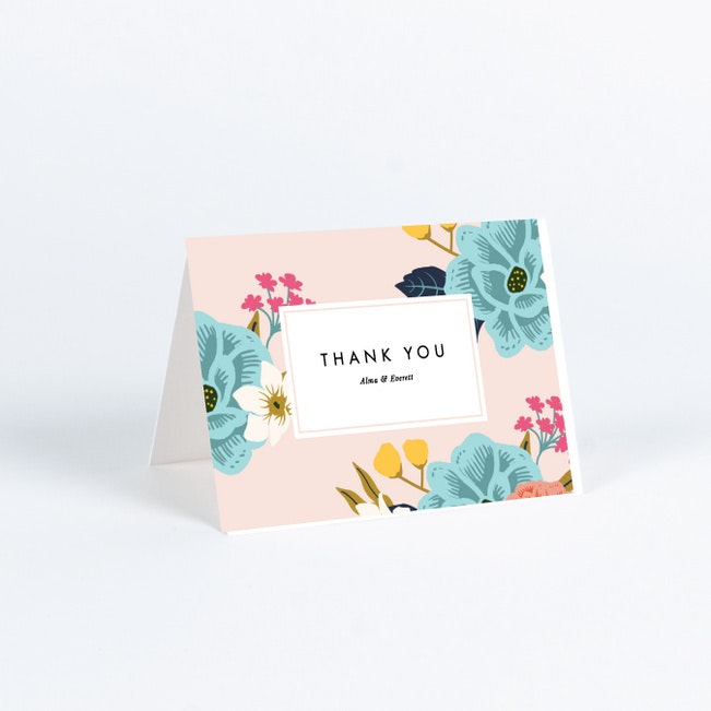 Floral Patterns Wedding Thank You Cards Paper Culture
