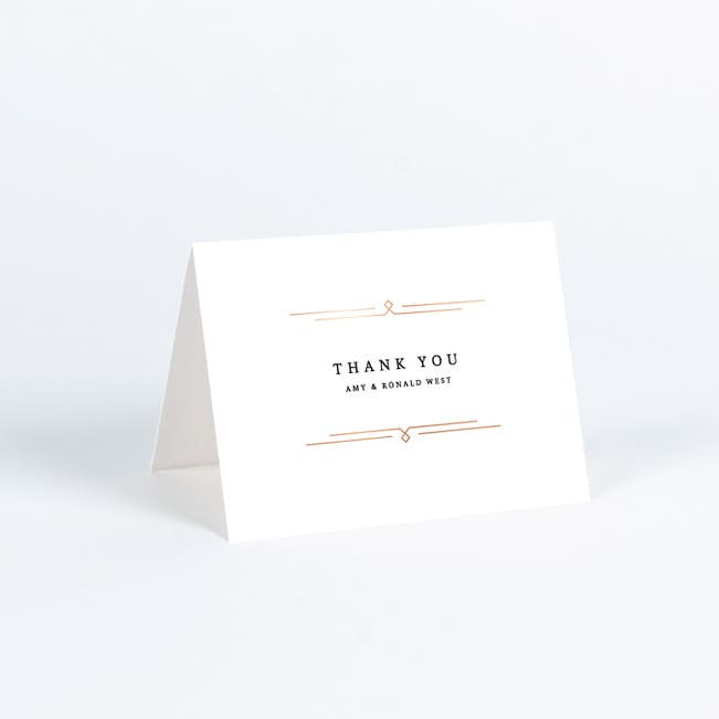 Foil Classically Stated Rustic Wedding Thank You Cards Paper Culture