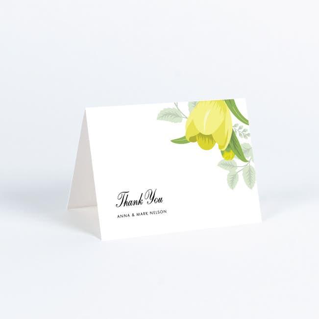 Retro Floret Wedding Thank You Cards Paper Culture