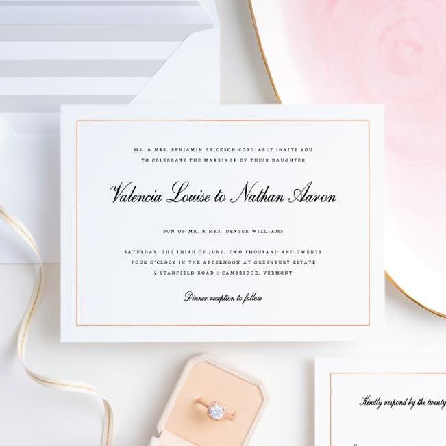 Classic Style Wedding Invitation Suites Paper Culture