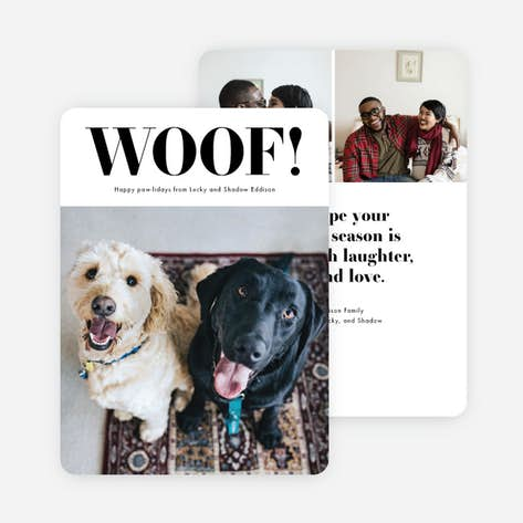dogs rule multi photo holiday cards black - Pet Holiday Cards