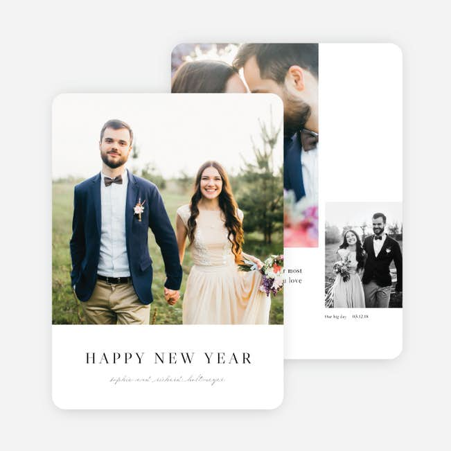 married bright new year cards and invitations paper culture