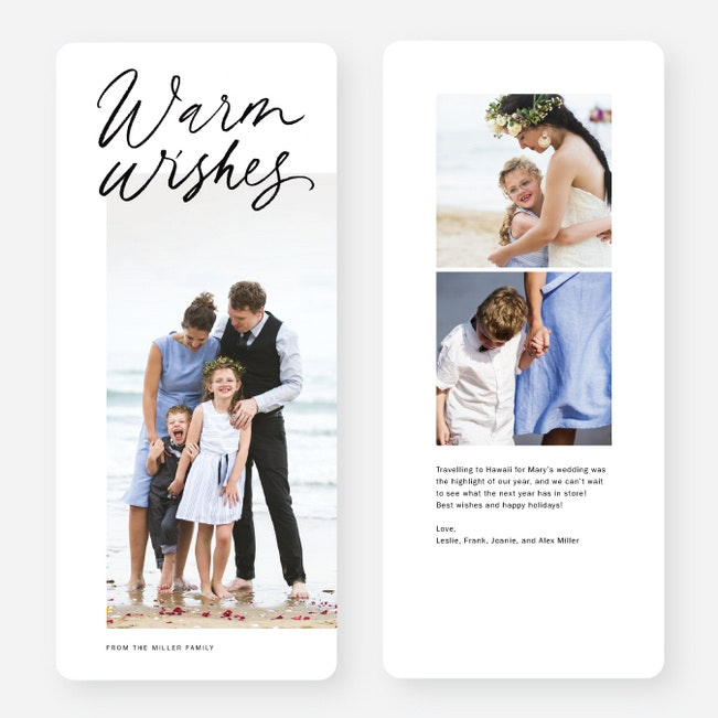 Warm Wishes Portrait Multi Photo Holiday Cards Paper Culture