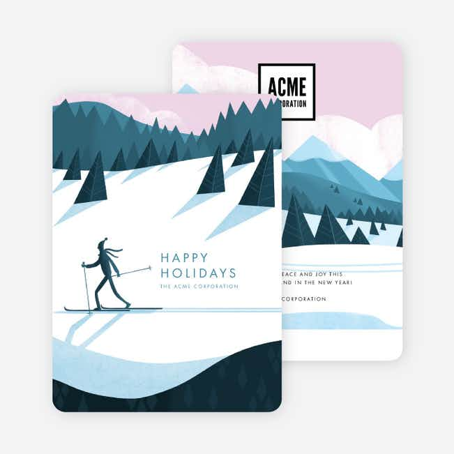 Majestic Mountainside Business and Corporate Holiday Cards - Multi
